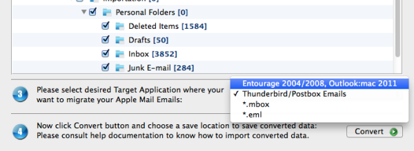 Switch Apple Mail to Eml
